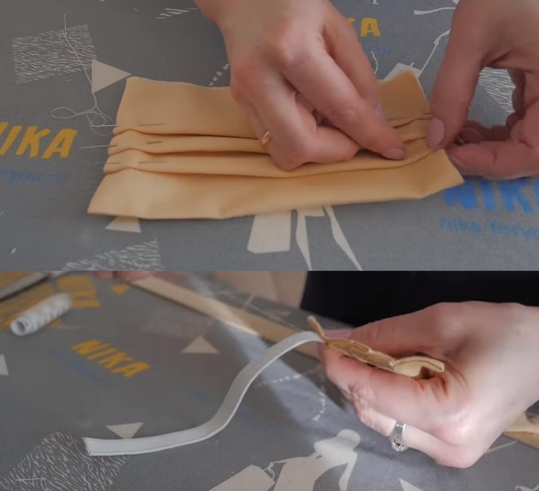 Как сделать медицинскую маску для лица из платка своими руками